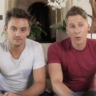 Tom Daley and Dustin Lance Black are Offering Someone a Double Date in London: VIDEO