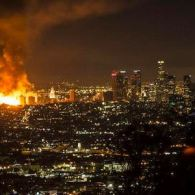 Massive Fire Lights Up Los Angeles Morning Sky: VIDEO