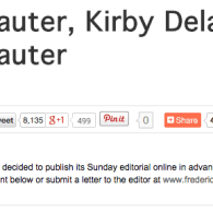 Kirby Delauter Backtracks After Threatening To Sue Newspaper For Printing His Name