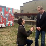 A Real-Life Gay Proposal Took Place on the Set of Kelly Clarkson's 'Heartbeat Song' Music Video: WATCH