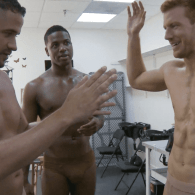 RuPaul's Drag Race Pit Crew Plays Dirty Charades With Oiled Up, Red-Headed New Stud Bryce: VIDEO