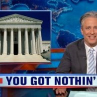 Jon Stewart Takes Down the 'Anti-gay Cray Cray' Arguments Against Marriage Equality at SCOTUS: VIDEO