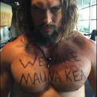 Jason Momoa's Pecs Defend Hawaii's Mauna Kea: PHOTO