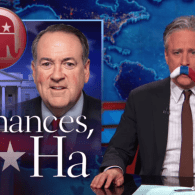 Jon Stewart Considers Mike Huckabee's Presidential Chances: VIDEO