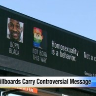 'Homosexuality is a Behavior' Says Disgusting Hate Group Billboard Campaign in Michigan: VIDEO