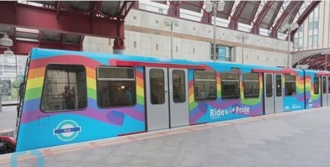 London Rolls Out 'Ride With Pride' Rainbow Train