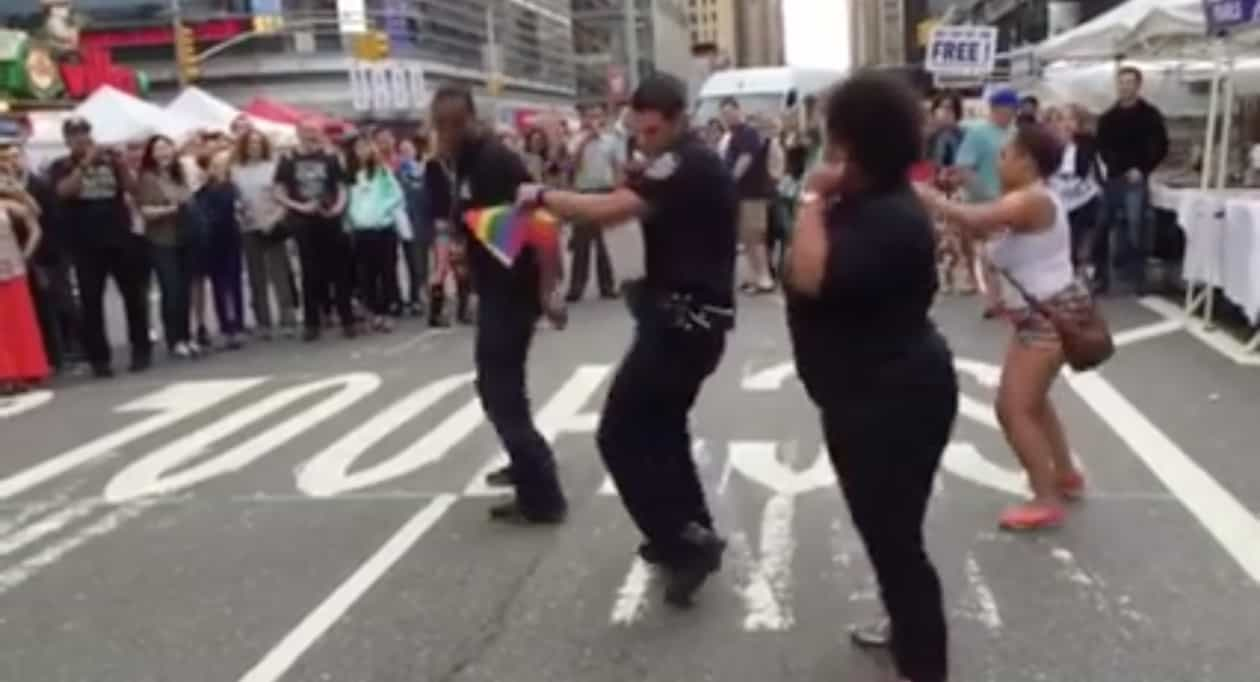 hot cop gets down to the cupid shuffle at nyc gay pride video hot cop gets down to the cupid shuffle at nyc gay pride video towleroad
