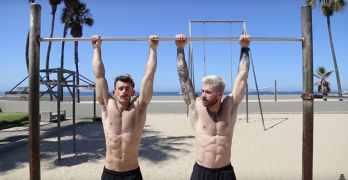 Nathan McCallum Kyle Krieger hot workout video