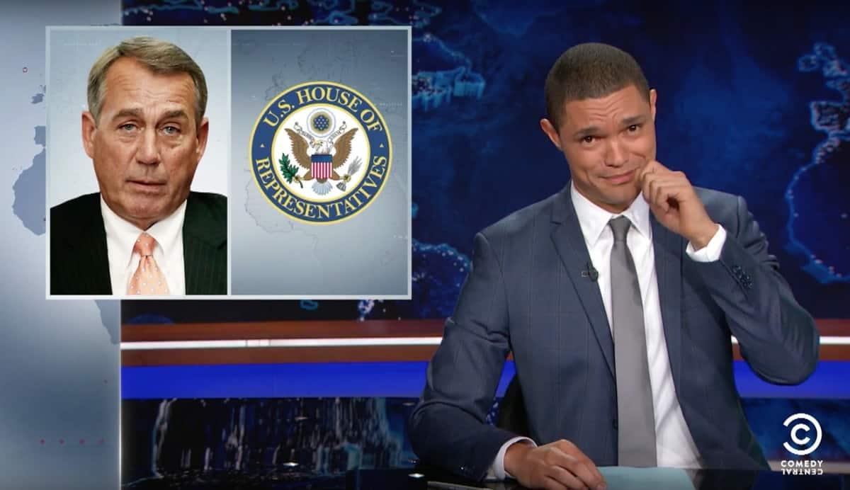 John Boehner Trevor Noah