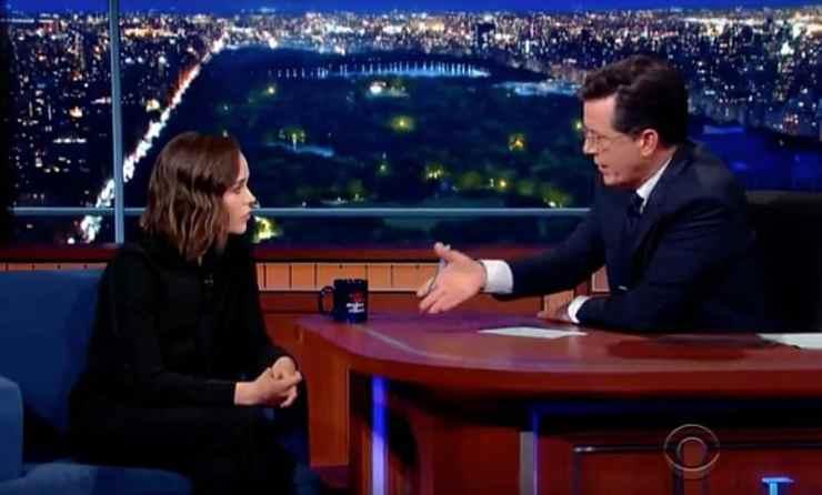 Ellen Page Stephen Colbert