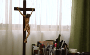 Inside the office of Vicar General Juan Roger Rodriguez Ruiz, the one diocese leader who agreed to an interview. (Jimmy Chalk/GlobalPost)