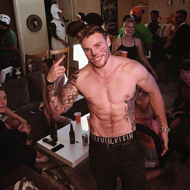 Gus Kenworthy shirtless  Halloween