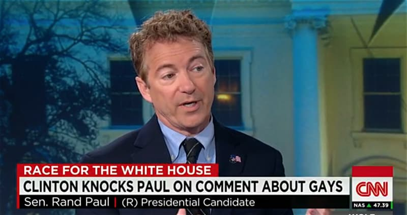 Rand Paul LGBT discrimination