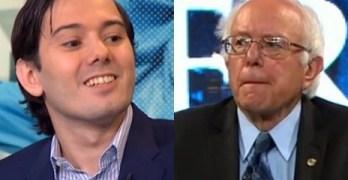 Martin Shkreli Bernie Sanders
