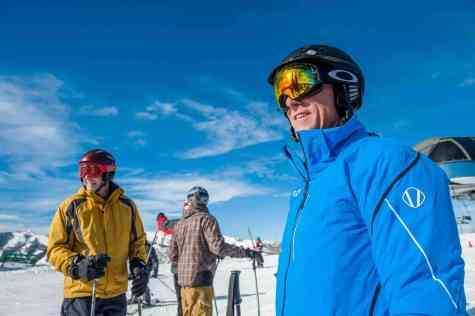 Actual skiers with normal clothes on at Aspen Gay Ski Week as seen at Towleroad and in ManAboutWorld
