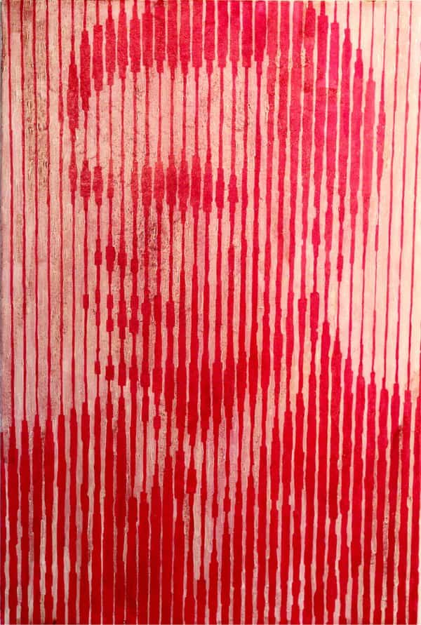 Alan Turing blood portrait