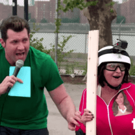 Rachel Dratch Takes Billy Eichner's 'Escape from Scientology' Challenge–and Frees John Travolta's Shed of Men: WATCH