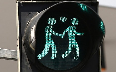 gay-themed traffic lights