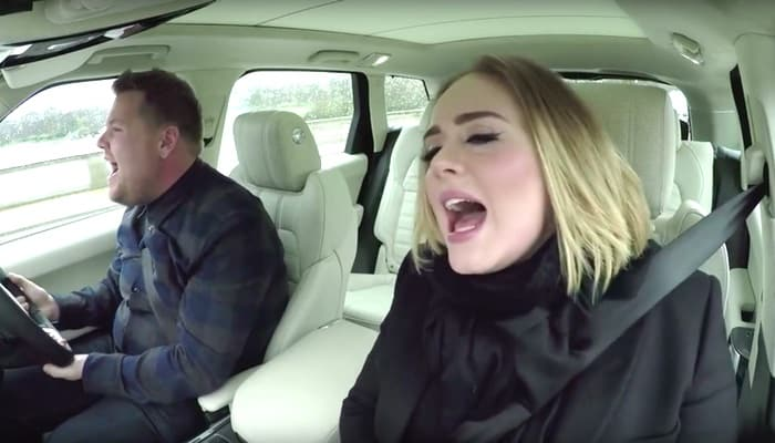 James Corden Adele carpool karaoke