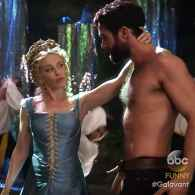 Kylie Minogue Orders Josh Sasse's Shirt Removed in Hot Number from Tonight's 'Galavant' – WATCH