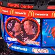 NHL Crowd Goes Wild as Gay Couple Smooches on the Kiss Cam at L.A. Kings Game: WATCH