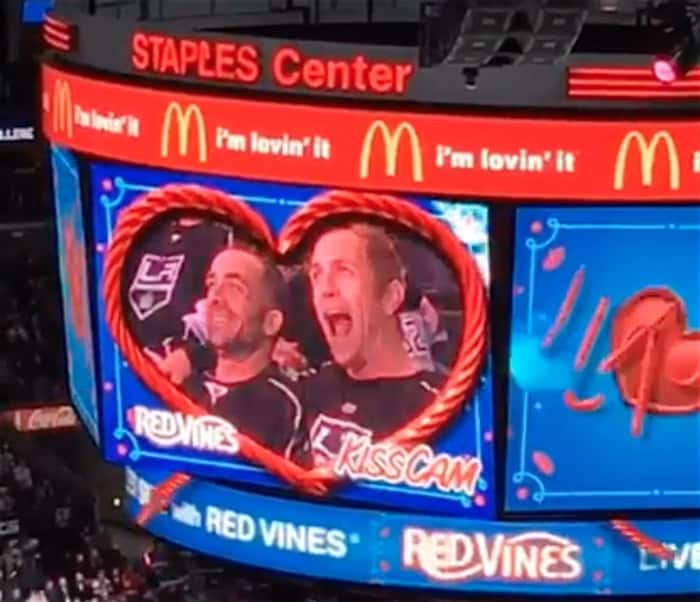 NHL gay couple kiss cam