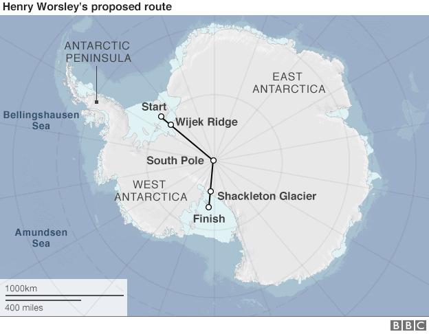 Worsley route Antarctica