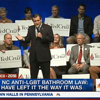 Ted Cruz Rips Donald Trump for Opposing NC's 'Bathroom Bill': 'Have We Gone Stark Raving Nuts? – WATCH