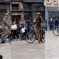 Gay Cyclist Stands Up to Homophobic Street Preacher, Leaves Crowd Cheering – WATCH