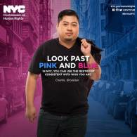 NYC Launches 'Look Past Pink and Blue' Campaign Promoting Trans Bathroom Rights: VIDEOS