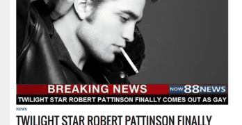 robert pattinson gay