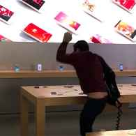 Angry Man Goes on iPhone Smashing Rampage in Apple Store: WATCH