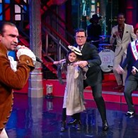 Hamilton's Javier Muñoz and Jon Stewart Joined Stephen Colbert to Get You to Vote: WATCH