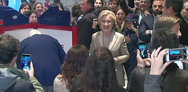 Hillary Clinton votes