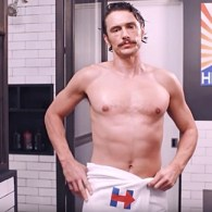 James Franco Strips Down to a Towel for Hillary Clinton: WATCH