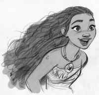 """Walt Disney Animation Studios' artist Jin Kim showcases the look of the title character in the upcoming adventure """"Moana."""" Says director Ron Clements, """"Moana is a vibrant, tenacious 16-year-old growing up on an island where voyaging is forbidden. But Moana has been drawn to the ocean since she can remember and is desperate to find out what's beyond the confines of her island."""" Directed by Clements and John Musker and featuring the voice of Native Hawaiian newcomer Auli'i Cravalho in the title role, """"Moana"""" opens nationwide on Nov. 23, 2016. ©2015 Disney. All Rights Reserved."""