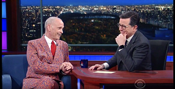 John Waters Just Shocked Stephen Colbert with the Really Gay Gift ...