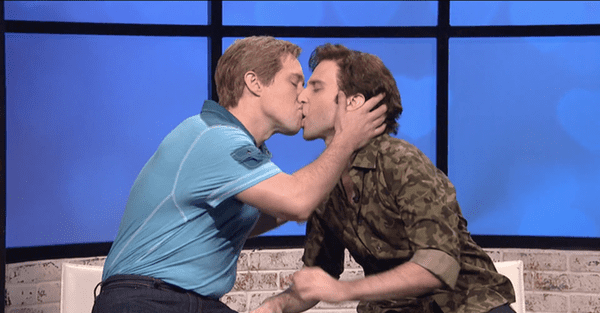 gay kiss snl