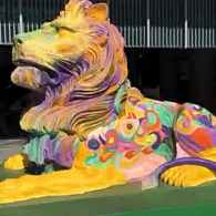 HSBC Rainbow Lions in Support of Hong Kong's LGBTQ Community Prompt Uproar from Bigots