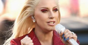 Gaga sings this week on TV