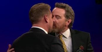Bryan Cranston kiss