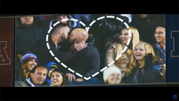 Fans of Love kiss cam fans love ad