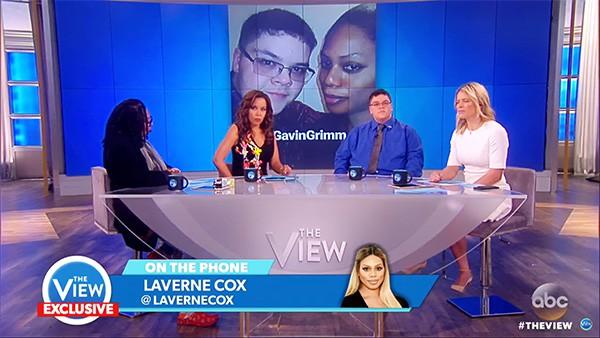 Gavin Grimm Laverne Cox The View