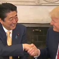 Donald Trump and Japanese PM Shinzo Abe Engage in Awkward, Neverending Handshake: WATCH