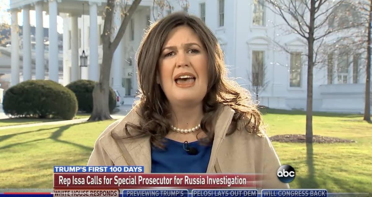 Sarah Huckabee Sanders correspondents dinner