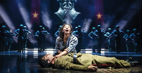 (8) Eva Noblezada and Devin Ilaw in a scene from MISS SAIGON. Photo by Matthew Murphy