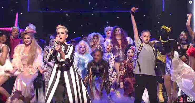 Image result for katy perry snl swish