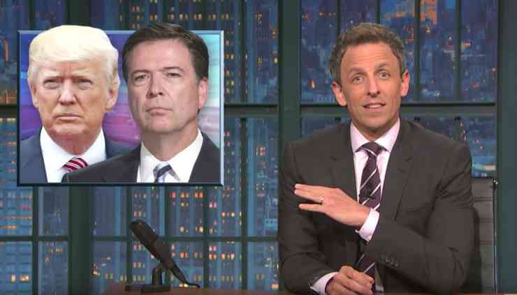 Image result for seth meyers trump comey