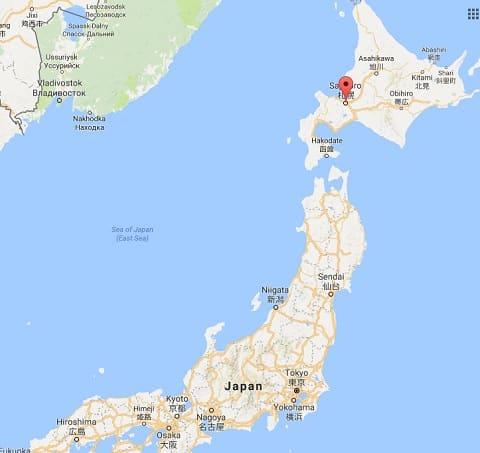 sapporo-japan-map
