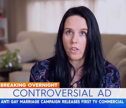 Anti same sex marriage commercial